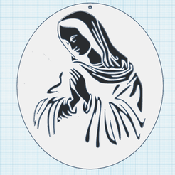 0_1.png Download free STL file The Virgin Mary • 3D print design, oasisk