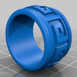 3.png Télécharger fichier SCAD gratuit Bague Azteque • Modèle à imprimer en 3D, oasisk