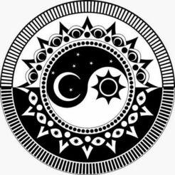 yin yang soleil-lune.jpg Télécharger fichier STL gratuit Yin Yang Soleil-Lune v2 • Modèle pour impression 3D, oasisk