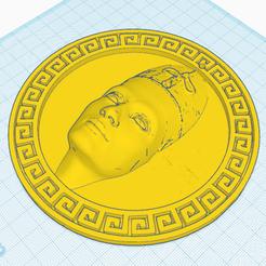 3.png Download free STL file Nefertiti in medallion • 3D printer design, oasisk
