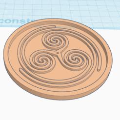 Impresiones 3D gratis BAJO EL VIDRIO Símbolo celta, oasisk