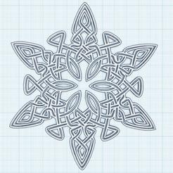 0.png Download free STL file Celtic Flake • 3D printer template, oasisk