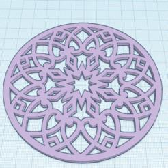 Descargar archivo STL gratis Mandala 10 • Objeto para imprimir en 3D, oasisk