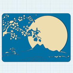 Descargar archivos STL gratis Luna llena en la montaña Sakurajima, oasisk