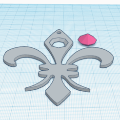 1.png Download free STL file Diamond on Fleur de Lys • 3D printing template, oasisk