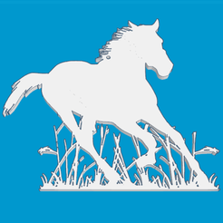 2.png Download free STL file Running horse • Template to 3D print, oasisk