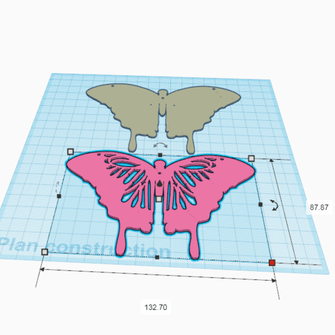 1.png Download free STL file Wall decoration Butterfly 2 colours • 3D printable object, oasisk