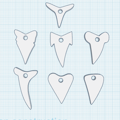 0.png Download free STL file 7 Shark Tooth Jewels • 3D print model, oasisk