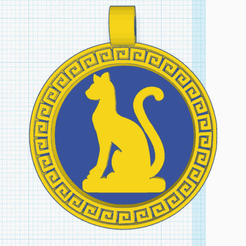 0.png Download free STL file Egyptian Medallion Cat • Template to 3D print, oasisk