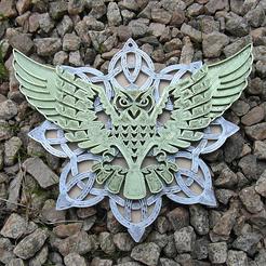 Descargar diseños 3D gratis HIBOU en Triskel, HIBOU en los nodos celtas, oasisk