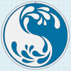 0.png Download free STL file Yin Yang Wave • 3D print template, oasisk
