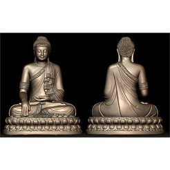 image.jpg Download free STL file THAI BUDDHA • 3D print template, oasisk
