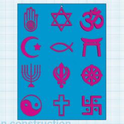 0.png Télécharger fichier STL gratuit Symboles Religieux • Objet pour impression 3D, oasisk