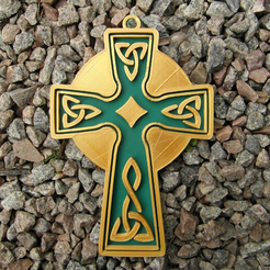 Download free 3D print files Celtic cross model 3, oasisk