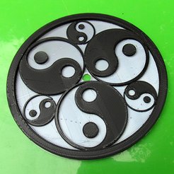 Download free 3D printing designs Rosace Yin-Yang, oasisk