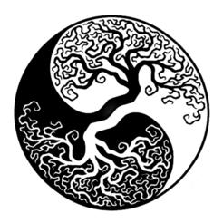 yin yang arbre de vie.png Télécharger fichier STL gratuit Arbre de vie Yin Yang version 2 • Modèle pour impression 3D, oasisk