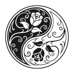 yin yang roses.png Télécharger fichier STL gratuit Yin Yang Roses • Plan à imprimer en 3D, oasisk