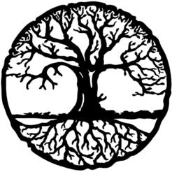 arbre de vie dans cercle2.png Télécharger fichier STL gratuit Cercle Arbre de Vie 12_20 • Plan à imprimer en 3D, oasisk