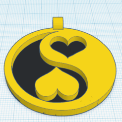 0.png Download free STL file Yin Yang Hearts Jewelry • 3D printing template, oasisk
