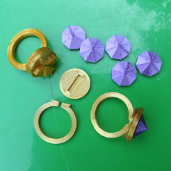 Download free 3D printer templates RINGS - Supplement, oasisk