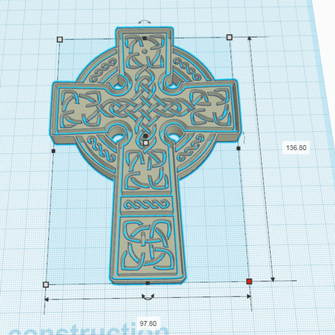 3.png Download free STL file CELTE CROSS Model 2 • 3D printing model, oasisk