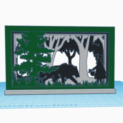 """0.png Télécharger fichier STL gratuit Décor 3D à cadres """"le petit chaperon rouge"""" • Objet pour imprimante 3D, oasisk"""