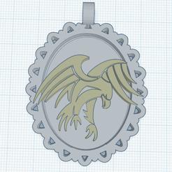 0.png Télécharger fichier STL gratuit Camee Aigle 3 • Modèle pour impression 3D, oasisk