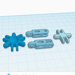 Descargar modelo 3D gratis ensamblaje de 2, 4 y 6 ramas, oasisk