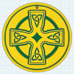 Download free 3D printer designs Celtic cross model 4, oasisk