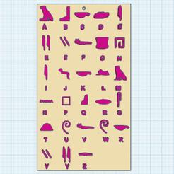 0.png Télécharger fichier STL gratuit Alphabet Egyptien • Design imprimable en 3D, oasisk
