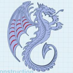 0.png Télécharger fichier STL gratuit Dragon grandes ailes • Objet pour imprimante 3D, oasisk