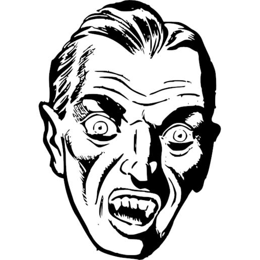 vampirehead.png Télécharger fichier STL gratuit Dracula • Objet pour impression 3D, oasisk