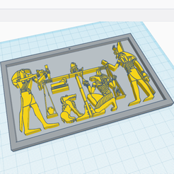 Download free 3D printer templates The Weighing of the Heart - Ancient Egypt, oasisk