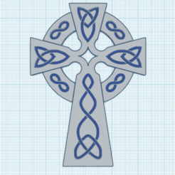 0.png Download free STL file Celtic Cross 10 • Object to 3D print, oasisk