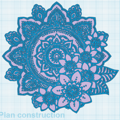 0.png Download free STL file Mandala-Flower • Template to 3D print, oasisk