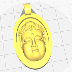 0.png Download free STL file Buddha Pendant • 3D print template, oasisk