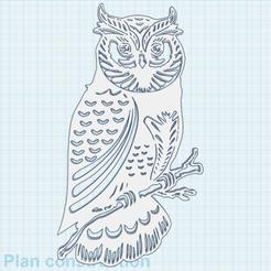 0.png Télécharger fichier STL gratuit Hibou Moyen-Duc • Plan pour impression 3D, oasisk