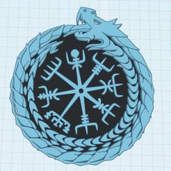 Descargar STL gratis Vegvisir el talismán vikingo, modelo 2, oasisk