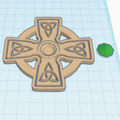 Download free 3D printer templates CELTIC CROSS DIAMOND v7, oasisk
