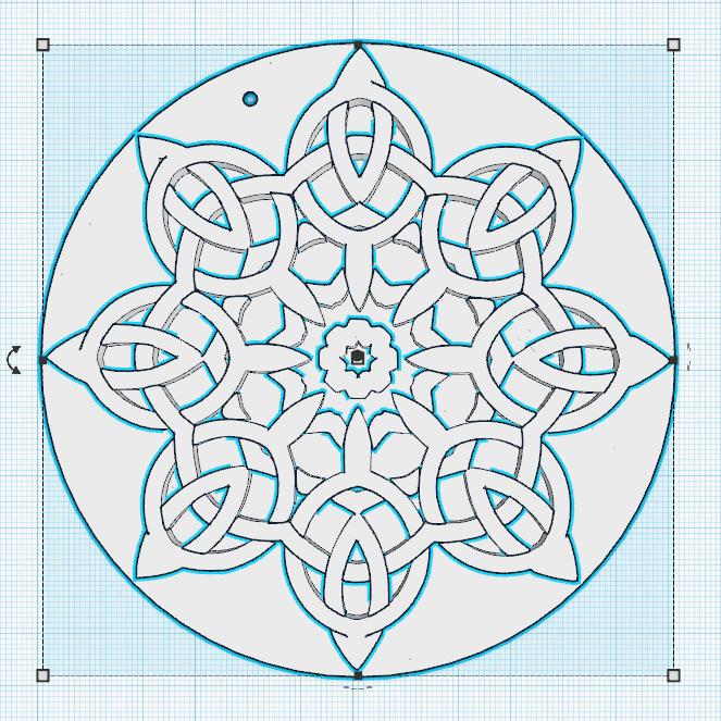1.png Télécharger fichier STL gratuit Forme florale de noeuds celtes • Design pour imprimante 3D, oasisk