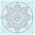 Download free STL Floral shape of Celtic knots, oasisk