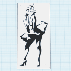 0.png Télécharger fichier STL gratuit Marilyn 3 • Objet à imprimer en 3D, oasisk