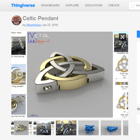 Download Free 3d Printing Files Celtic Jewelry Cults