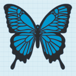 5.png Download free STL file Wall decoration Butterfly • Design to 3D print, oasisk