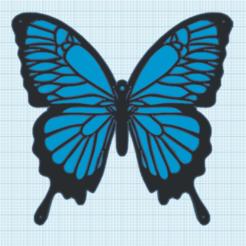 5.png Télécharger fichier STL gratuit Decor mural Papillon • Objet pour imprimante 3D, oasisk