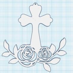 0.png Télécharger fichier STL gratuit Croix fleurie 1 • Modèle imprimable en 3D, oasisk