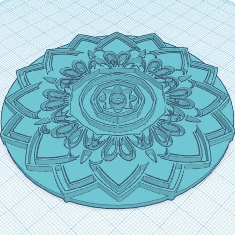 Download free 3D model Mandala, oasisk