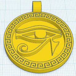 Descargar STL gratis Medallón egipcio Ojo de Horus, oasisk