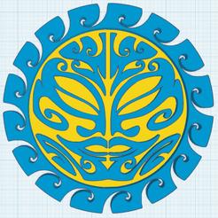 0.png Télécharger fichier STL gratuit Soleil Maori • Modèle pour impression 3D, oasisk