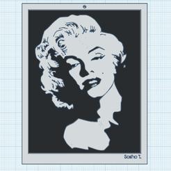 0.png Télécharger fichier STL gratuit Marilyn 2 • Objet imprimable en 3D, oasisk